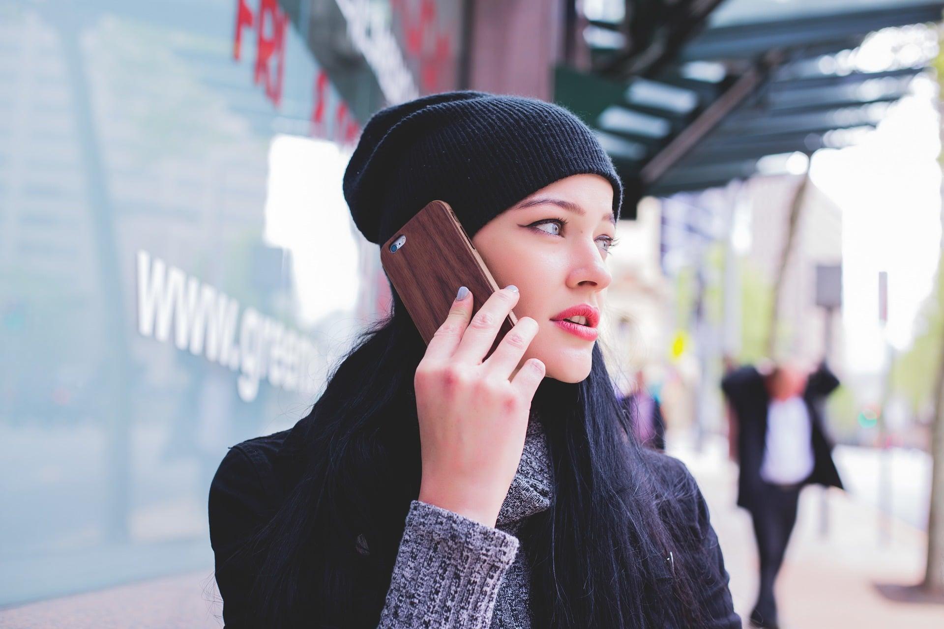 female phone